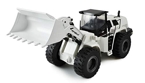 Amewi 22416 Elektro Sonderfahrzeug Radlader weiß 1:14, Teilmetall RTR, Sound, Licht, 10-Kanal