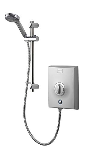 Aqualisa QZE10501 Quartz Electric shower with adjustable head, Chrome, 10.5kW