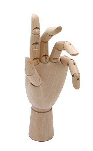 Meister Modellhand - Gliederhand 25 cm hoch, Linke Hand