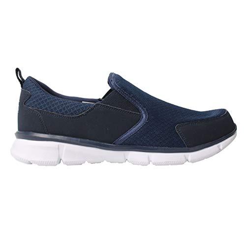 Slazenger Zeal Herren Slipper Turnschuhe Mesh Freizeit Schuhe Sneaker Marineblau 9 (43)