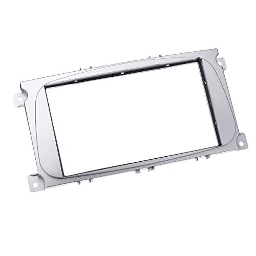 HIGHER MEN Car Accessories Parts 2 DIN Car Stereo salpicadero Radio Kit Plate Frame for Ford Focus II for el Mondeo S-MAX C-MAX Galaxy II Kuga