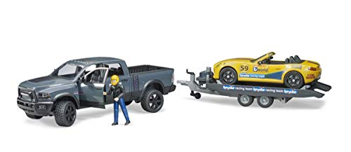 Bruder RAM 2500 Power Wagon y Roadster Racing Team, Multicolor (02504)