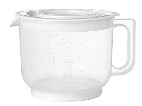Plast Team Pichet Mixeur avec Couvercle, Polypropylène, Transparent/Blanc, 30 x 30 x 30 cm
