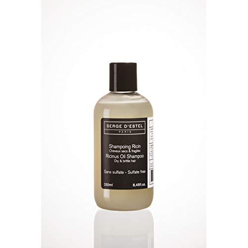 Shampoing Sans Sulfate au Ricin 250ml Shampoing Très Nourrissant Hydratant pour Cheveux Très Secs Frisés et Crépus Shampoing Nourrissant Sans Sulfate Non Testé sur les Animaux.