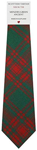 I Luv Ltd Cravate en Laine pour Homme Tissée et Fabriquée en Ecosse à Menzies Green Ancient Tartan