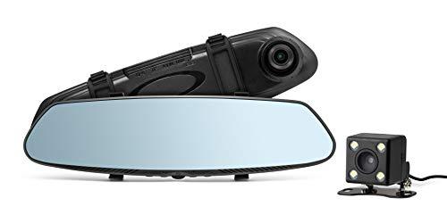Technaxx HD-Rückspiegel-Dashcam TX-124 Rückfahrkamera HD Touchscreen Autokamera IP68 wasserdicht Weitwinkel