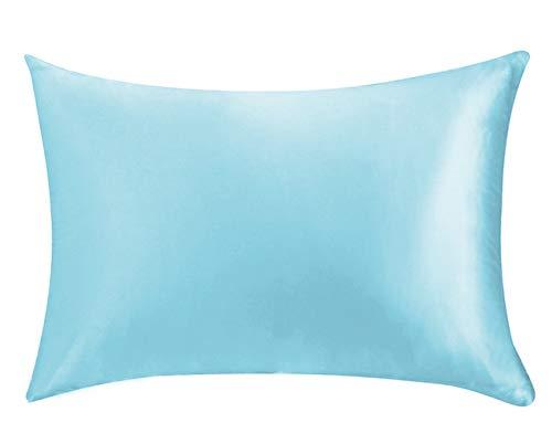 Silk Life Funda de Almohada de Seda para Cabello y Piel Facial para Evitar Arrugas con Cremallera Oculta Blanca 1 Pieza, Pattern-2, 50*75