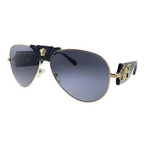 Gafas de Sol Versace VE 2150Q Black Gold/Grey 62/14/140 hombre