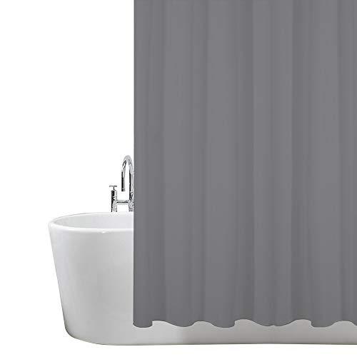 ANSIO Duschvorhang, massivschimmel & Mehltau resistent 180 x 180 cm (71 x 71 Zoll) | 100prozent Polyester - Kohlengrau