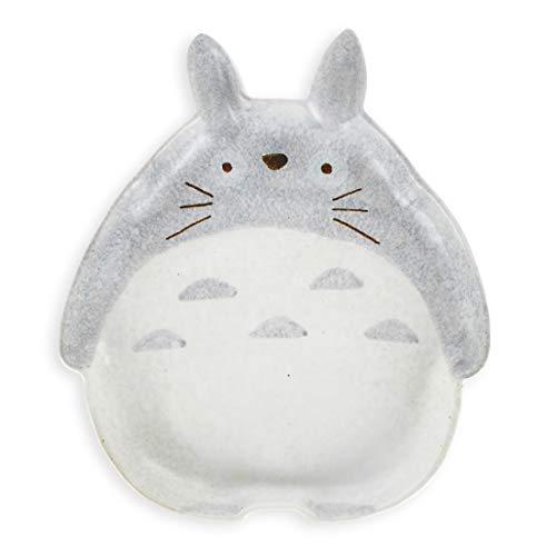 CoolChange Süßer Totoro Keramik Teller, 19cm Durchmesser, Hand bemalt