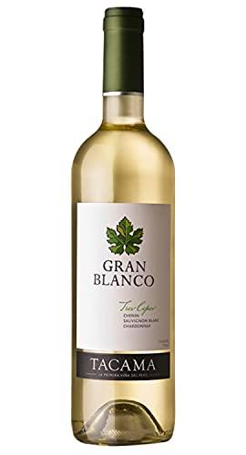 Vino Gran Blanco TACAMA, 13,5% vol, 750ml - Peruanischer Weißwein aus den Rebsorten Chenin, Sauvignon Blanc und Chardonnay
