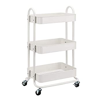 Amazon Basics 3-Tier Rolling Utility or Kitchen Cart - White