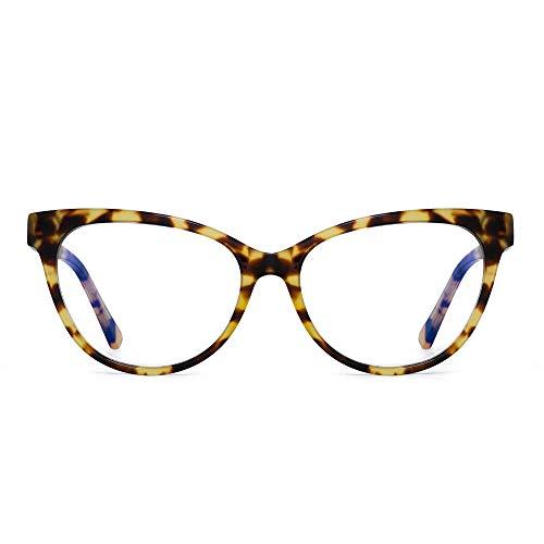 JIM HALO Anti Luz Azul Gafas de Computadora Ojos de Gato Vídeo Juego Anteojos Reduce Fatiga Ocular Tortuga