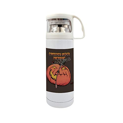 Funny Stainless Steel Vacuum Insulated Travel Mug Dr. Pump and Mister Kino Travel Mug 14oz/350ml