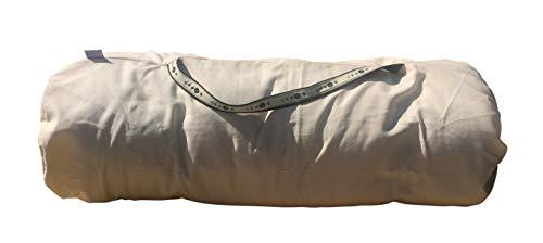 Futon Italy - Futon mit Tasche - Maße Futon 65x200x8 cm, Faltbar und transportabel, für Shiatsu, Yoga, Massage: aus Reiner Baumwolle, Ecrù Color