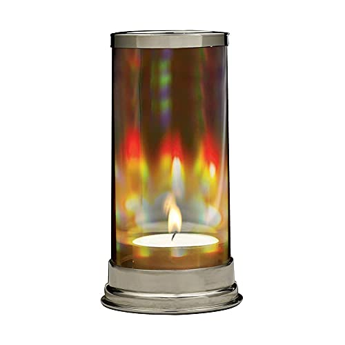 SIGNALS Rainbow Hurricane Candleholder - Crystal Prism Glass Cylinder