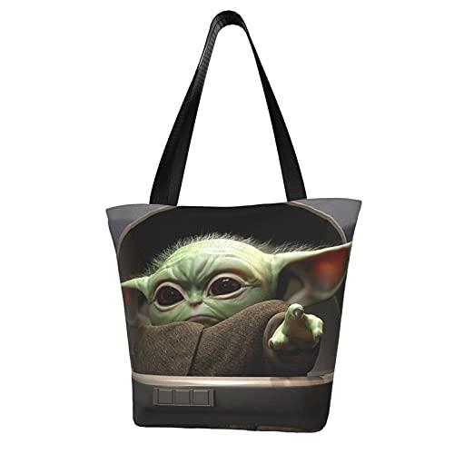 Yoda - Bolsa de viaje para bebé, con asa de hombro, bolsa de trabajo escolar, gran capacidad para almacenamiento de comestibles, bolsa de viaje diario