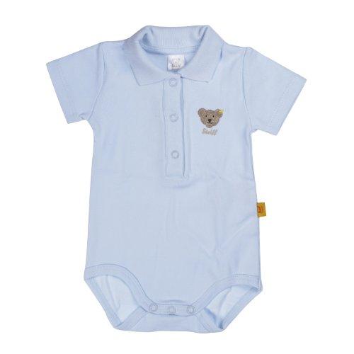 Steiff Unisex - Baby Body 0008703 1/2 Arm, Einfarbig, Gr. 56, Blau (Steiff Baby Blue)
