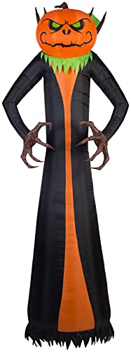 Gemmy Airblown Projection Phantasm Pumpkin Reaper 12-ft Lighted Halloween Inflatable Indoor/Outdoor Decoration