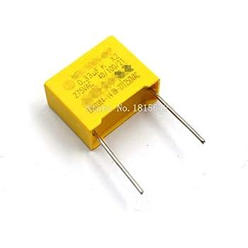 sourcing map Condensateurs polypropyl/ène Assortiment Trousse Dip 275VAC 0.1uF 0.15uF 0.22uF 30Pcs 0.15uF,0.22uF,0.33uF