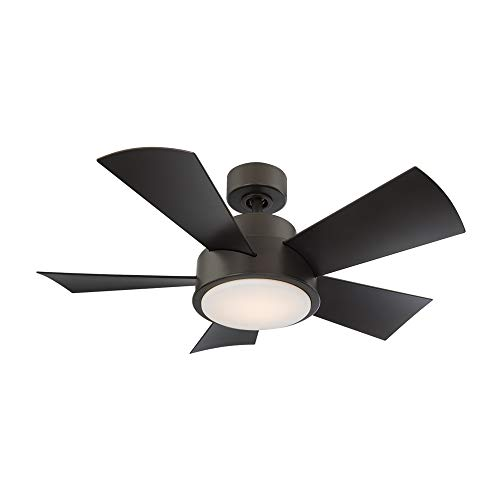 smart for life large room fans Elf Indoor and Outdoor 5-Blade Smart Ceiling Fan 38in Bronze with 3000K LED Light Kit and Remote Control