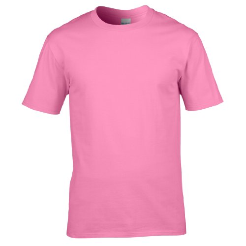 Gildan Premium T-Shirt für Männer (L) (Rosa) L,Rosa