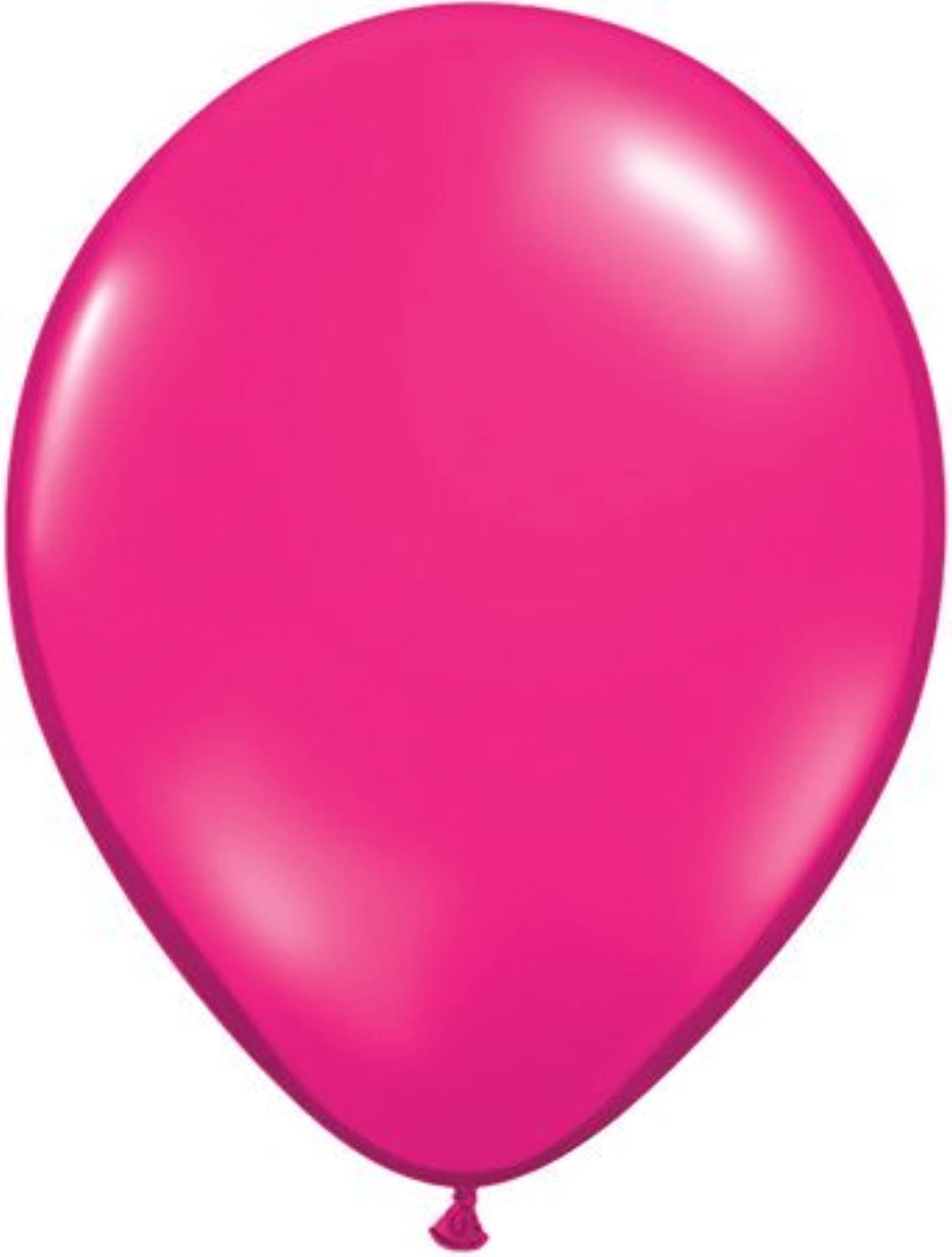 Jewel Magenta Pink 11 Qualatex Latex Balloons x 25 by Jewel Finish Solid Colour 3ft Latex