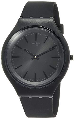 Swatch Herren Analog Quarz Uhr mit Silikon Armband SVUB103