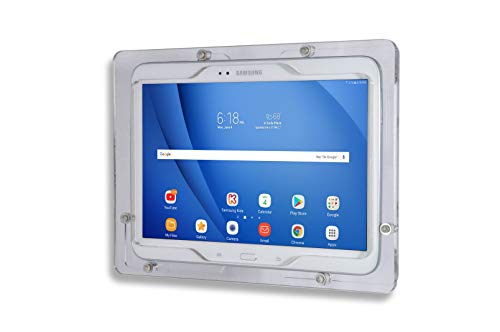 TABcare Anti-Theft Acrylic VESA Enclosure for Galaxy TAB S3 9.7' with Free Wall Mount Kit & 90-Degree USB C Charge Cable (TAB S3 9.7, Clear)
