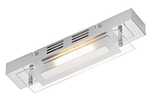 Briloner Leuchten Deckenleuchte, LED Lampe, Deckenlampe, Badezimmerlampe, Badlampe, Badleuchte, LED Strahler, Spots, Wohnzimmerlampe, Deckenstrahler, Glas teilmattiert