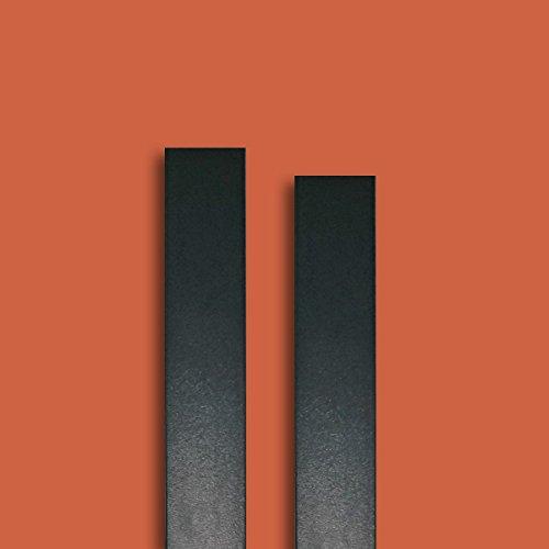 Fensterleiste RAL 7016 anthrazitgrau-glatt 50 mm breit 6m lang Flachleiste Abdeckleiste Dekor Leiste farbig