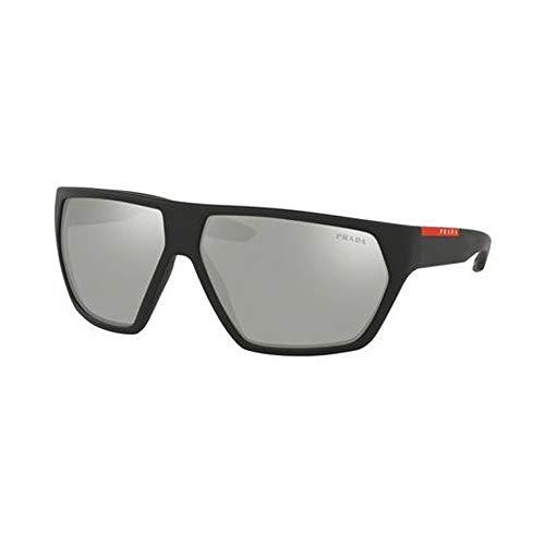 Prada LINEA ROSSA 0PS 08US Gafas de sol, Black Rubber, 66 para Hombre