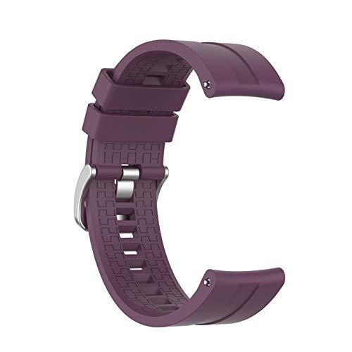 YGGFA Correa de reloj de 22 mm para Huawei Watch GT 2 46 mm/42 correas para Honor Magic Smartwatch Pulsera (color de la correa: morado, ancho de la correa: Huawei Honor Magic).