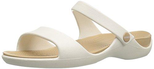 Crocs Cleo V W, Sandalias con Punta Abierta para Mujer