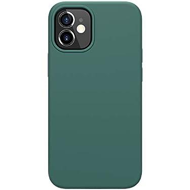 """Nillkin Case for Apple iPhone 12 Mini (5.4"""" Inch) Flex Pure Case Liquid Silicon Finish Anti Finger Print with Inner Microfibre Green Color"""