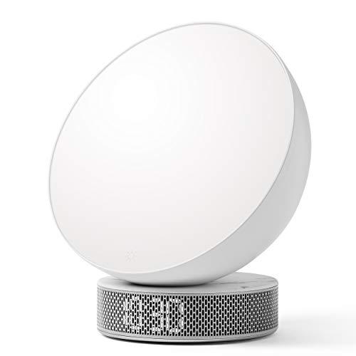 Lexon Miami Sunrise Lichttherapie-Wecker – weiß/weißer Marmor