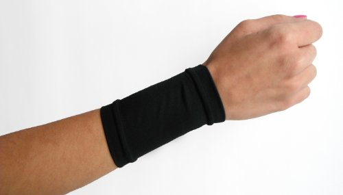 Tatjacket Tattoo Cover Up Concealer Sleeve, Wrist or Instep coverage, UPF 50 Protection, Slip Free, for Men & Women (Unisex), 2 Pack, BLACK
