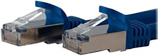 StarTech.com Cat6a Ethernet Cable - 10 ft - Blue - Patch Cable - Shielded (SPT) - Molded Cat5 Cable - Network Cable - Ethe...