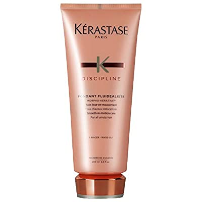 Kerastase Discipline Fondant Fluidealiste Smooth-in-Motion Care Conditioner for Unisex, pink , 6.8 Ounce