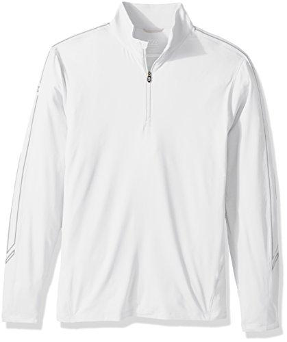 Cutter & Buck Men's Lightweight 50+ UPF Jersey Pennant Sport 3/4 Zip Pullover, White, XXX-Large