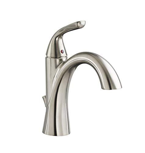 American Standard 7186101.295 Fluent Single Control Bathroom Faucet, Satin Nickel