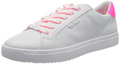 TOM TAILOR Damen 8093201 Sneaker, Mehrfarbig (White-Neon Pink 02703), 38 EU