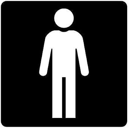 ピクトグラム 男子トイレ ステッカーデカール (黒色 )