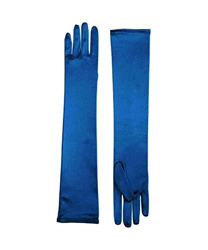 Forum Novelties Long Light Blue Adult Female Costume Satin Dress Gloves One Size