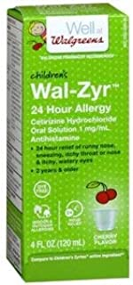 Walgreens Children's Wal-Zyr All Day Allergy, Cherry Flavored - 4 fl oz