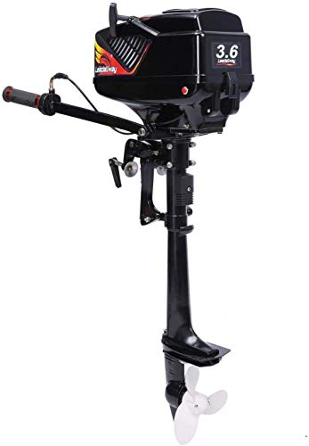 Review LEADALLWAY 4HP Boat Engine New Four Stroke w/Air Cooling System-Full Superior Outboard Motor ...