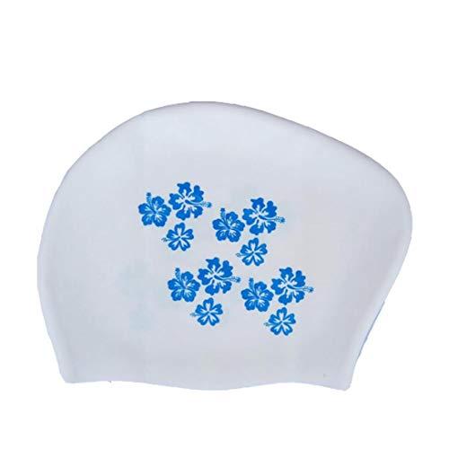 Bademütze, Silikon-Wasser-beständiges Schwimmen Hut Für Erwachsene Uv-schutzbadebekleidung, Mützen Bade Geeignet Für Männer Frauen