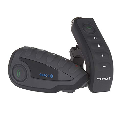 Vnetphone V8 BT 3.0 Bluetooth Intercom, Esoku Motorcycle Helmet Waterproof Interphone Headset 5 Riders up to 1200M Wireless Communication Walkie Talkie Connecting to MP3/GPS & FM