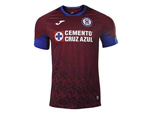 Joma Authentic Cruz Azul Jersey 2020-2021 Season Third Jersey Burgundy (Small)