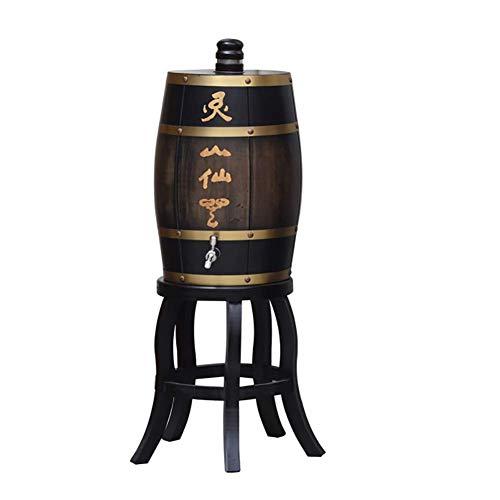 XJZKA Barril de Vino de Madera de Roble, Dispensador de Barril de Vino de Madera Especial Cubo de Almacenamiento de 10 L Barriles de Cerveza, para Barril de envejecimiento de Whisky, Opo